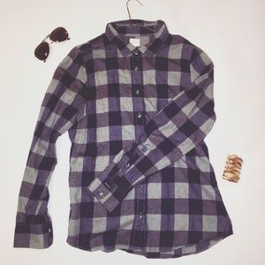 The Perfect Shirt by J. Crew Navy/Gray